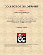 Bardic College: College of Leadership