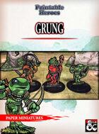 Grung Paper Miniatures