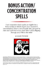 Bonus Action/Concentration Spells