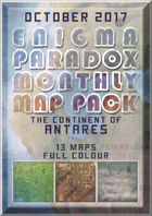 Enigma Paradox Monthly Map Pack: Continent of Antares (Gray printer friendly)