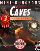 Mini-Dungeons 1: CAVES - 3-in-1 adventure bundle (Fantasy Grounds)