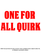 One for all quirk, My hero academia homebrew