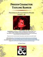 Pregen Character: Tiefling Ranger (Horizon Walker)