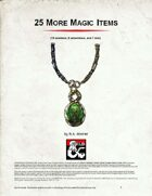 25 More Magic Items