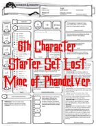 Starter Set Lost Mine of Phandelver 6th Character