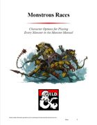 Monstrous Races