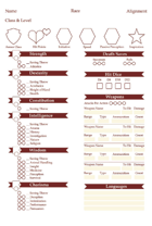 A5 Character Sheet