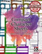 """Compact 4""""x6"""" NPC Character Sheet"""