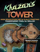 Curse of Strahd: Khazan's Tower Map for Roll20 or Printout