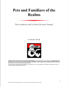 Pets and Familiars of the Realms