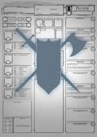 Class Character Sheets - The Fighter