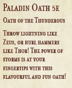 5e Paladin Oath - Oath of the Thunderous