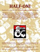 Half-Oni Race