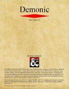 Demonic Class (D&D 5e)