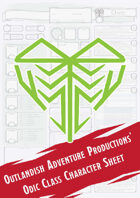 Odic Class Character Sheet (Outlandish Adventure Productions)