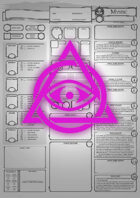 Class Character Sheets - The Mystic