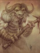 Stock art - Minotaur sketch