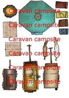 2D terrain, maps and props - Caravan campsite