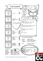 Anjie, the Dwarf Barbarian (Pregenerated Character Sheet for D&D 5e, no art)