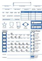 Retro Style 5E Character Sheet