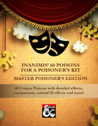 60 Poisons for a Poisoner's Kit - Master Poisoner's Edition