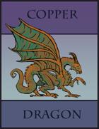Copper Dragon Paper Miniature