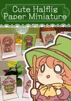 Cute Halfling Paper miniatures