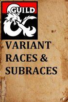 Variant Races & Subraces 1.2