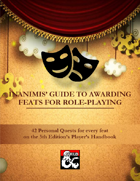 Inanimis' Guide to Awarding Feats for Role-Playing
