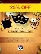 Inanimis' 60 Poisons and Restaurant Menus Bundle