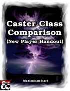 Caster Class Comparison (New Player Handout)
