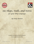 150 Shops, Stalls, and Stores