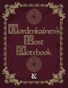 Mordenkainen's Lost Notebook