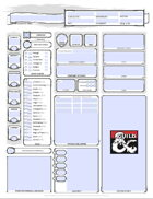 D&D 5E Character Sheet (editable/fillable PDF, printer friendly, auto calculates bonuses)
