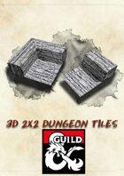 3D Papercraft Dungeon Tiles by Pauper Dungeon