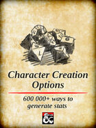 Character Creation Options