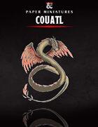 Couatl Paper Miniature