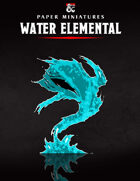 Water Elemental Paper Miniature