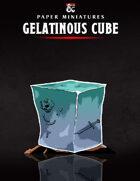 Gelatinous Cube Paper Miniature