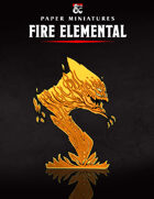 Fire Elemental Paper Miniature