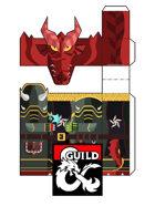Dragonborn Paladin of Tiamat - Papercraft Doll