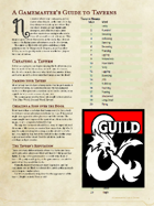 A Gamemaster's Guide to Taverns