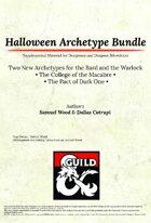 [5e] Halloween Archetype Bundle- Dragon Ink