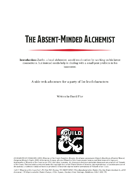 The Absent-Minded Alchemist