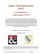 Leilon: The Demon Mines Part 3