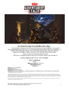 CCC-ELF-02 An Adventuring Party Walks Into A Bar