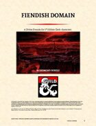 The Fiendish Domain - Cleric Domain