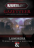 Ravenloft Gazetteer: Lamordia Volume One