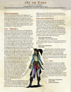 Off the Rails: A 5e Pulp Fantasy One Sheet