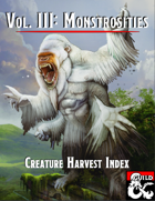 Creature Harvest Index - Monstrosities